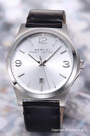 trend watch rakuten global market marc by marc jacobs mens marc by marc jacobs mens watch danny ( danny ) silver black leather strap mbm5040