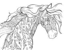 Horse Coloring Picture Coloring Horse Coloring Pages For Adults 4