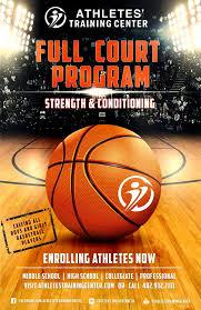 basketball training flyer template full court program athletes training center
