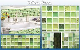 Home Decor Tile Stores Home Decor Brick Mosaic Kitchen Bathroom Foil Beauty 100D Wallpaper 93