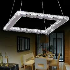 modern square shaped crystal chandelier for home lighting throughout ideas 3