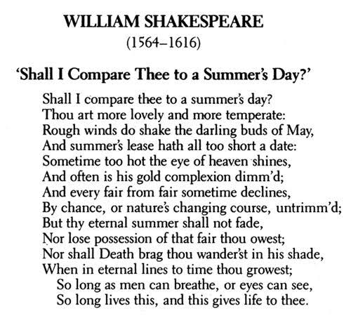 famous poems by william shakespeare about life