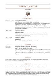 child care assistant resume samples child development resume