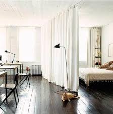 bedroom curtain wall small spaces