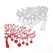 christmas card stencils love heart tree diy metal embossing cutting dies stencils