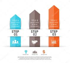 Vector Arrows Infographic 3 Steps To Success Stock Vector