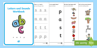 Print all alphabet worksheets and work with your preschooler. Letters And Sounds Workbook S A T P Phonics Worksheets