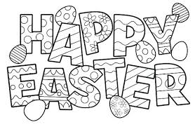 Bunny Coloring Pages Easter Online Free Printable Sheet