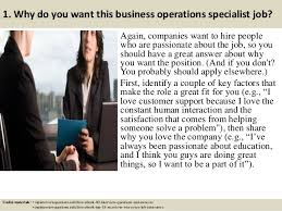 business operations specialist top 10 business operations specialist interview questions and answers