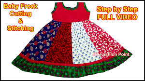 Diy Designer Baby Frock Cutting And Stitching Full Tutorial Different Type Baby Frock Cutting Stitching Step By Step Diy Baby Dress