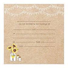 The Card Gallery Wedding Postcard Invitations Rustic Sunflowers