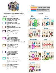 one page calender elementary school athletics esa 2016 2017 one page calendar