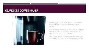 keurig k55 coffee maker. K55 Coffee Maker Target Not Working Keurig Single Serve . Reviews