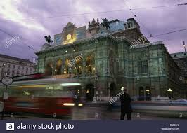 Cable car moving on tramway at dusk Vienna State Opera Vienna Austria Stock  Photo - Alamy