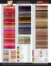 Permanent Makeup Color Chart Www Bedowntowndaytona Com