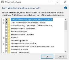 issue installing net framework 3 5 on