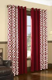 Red Patterned Curtains