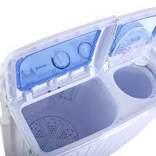 Mini Clothes Washer Portable Mini Compact Twin Tub 11lb Washing Machine Washer Spin