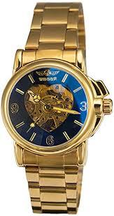 <b>Winner</b> Luxury Women Automatic Mechanical Gold <b>Watch</b> Unique ...