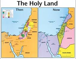Holy Land Then And Now Map Bible Mapping Holy Land Map