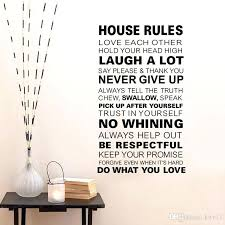 house rules wall art new family house rules wall stickers home decor love art quote vinyl decor removable wall art decals wall stickers online with 875  on house rules wooden wall art with house rules wall art new family house rules wall stickers home decor