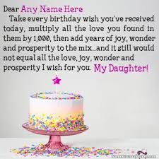 Best Birthday Wishes For Daughter With Name And Photo Cards