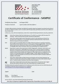Certificate Of Compliance Template Word Ce Of Conformance Template Blank Certificate Word Compli