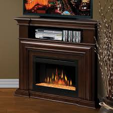 image of amish corner electric fireplace tv stand