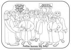 Kleurplaten Nieuwe Testament Jezus Clipart Geloven Is Leuk