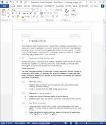 Installation Guide Template Ms Word Templates Forms