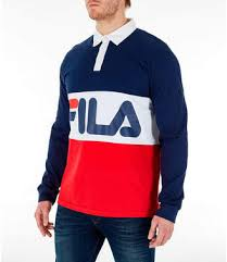 fila men s harley rugby long sleeve collared shirt