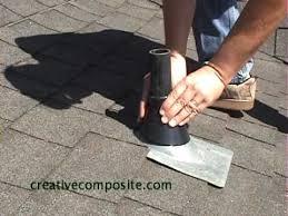 plumbing roof vent. Roof Repair Of Plumbing Vent Pipe