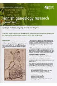 Church Genealogy Handy Guide Finnish Genealogy Research Beginners Guide
