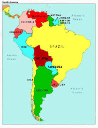 map of south america with capitals at south america countries map