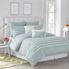 com capri stripe duvet cover by jill rosenwald queen cotton soft reversible patterned graphic modern bedroom full queen seaside aqua