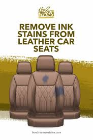 how to remove ink stains from leather