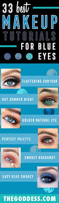 makeup tutorials for blue eyes how to flatter blue eyes easy step by step
