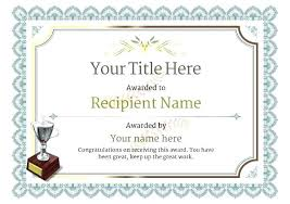 Template Award Certificate Achievement Templates Free Funny