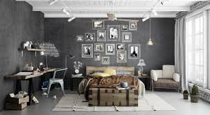 Modern Industrial Bedroom Bedroom Modern Indurtrial Bedroom With White Cozy Comfort Bed