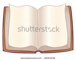 vector cartoon open book with no text