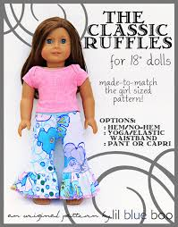 Free Printable American Girl Doll Clothes Patterns Stunning NEW 48 DOLL PANTS PATTERN FREE Doll Pattern
