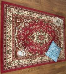 beige and red persian style oriental area rug 5 x 7 for in tacoma wa offerup