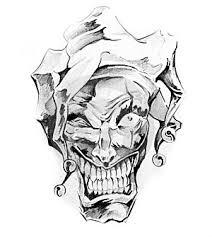 Obrázek17129004 Skica Tattoo Art Klaun Joker Autor Outsiderzone
