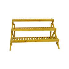 h 3 tier wooden step