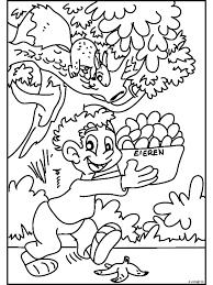 Kleurplaat Mand Met Eieren Kleurplatennl