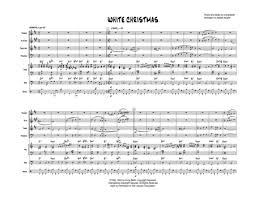 Free Christmas Jazz Combo Charts White Christmas Jazz Combo With Trumpet Alto Sax Tenor Sax