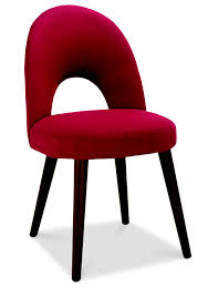 red upholstered dining chairs. Oslo Walnut Red Fabric Upholstered Dining Chairs And Beautiful Table Trends