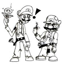 The Best Free Luigi Drawing Images Download From 304 Free Drawings