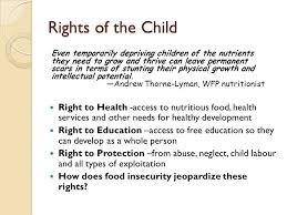 global food insecurity effects on children what the world eats  rights of the child right to health access to nutritious food health services and