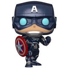 Купить <b>Фигурка Funko POP</b>! Bobble: Avengers Game: <b>Captain</b> ...